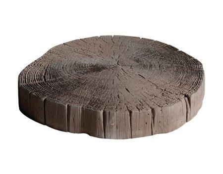 Driftwood Log Stepping Stone